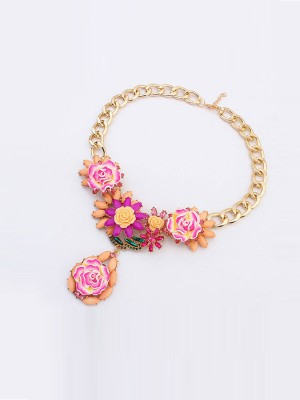 Occident Fashionable Retro Temperament Flowers Hot Sale Halsketten