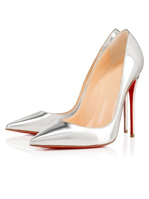 Damen Closed Toe Patent Leather Stiletto-Absatz Hohe Schuhe