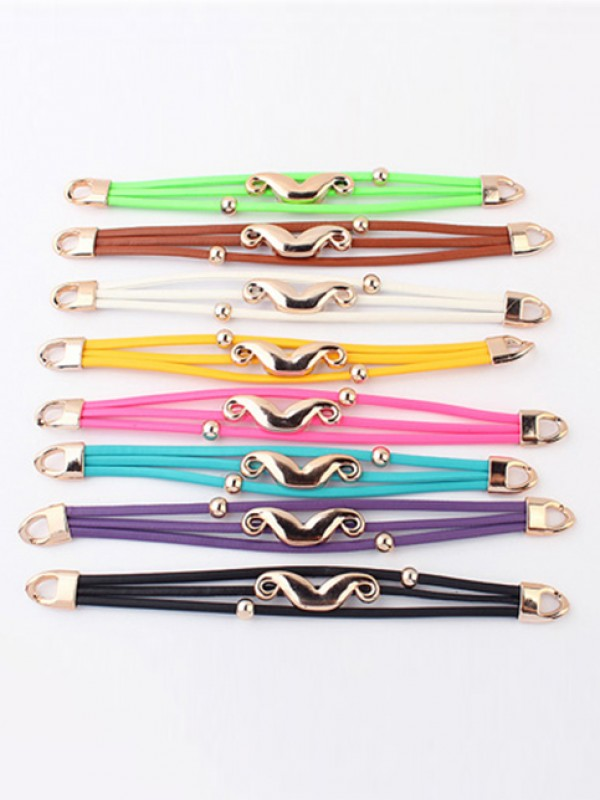 Occident Fluorescent colors Major suit Mustache Hot Sale Armbänder