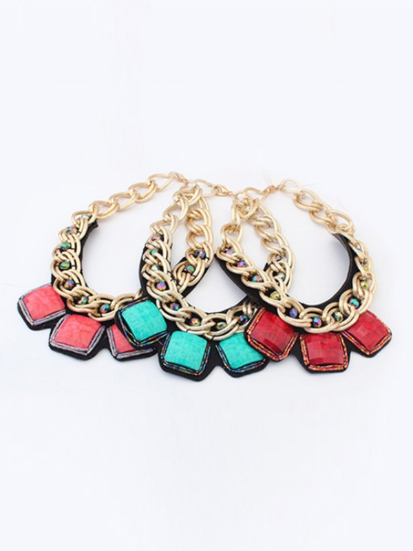 Occident Hyperbolic Metallic thick chains Personality Hot Sale Halsketten