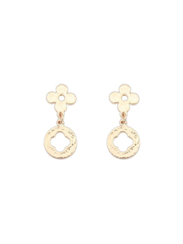 Occident Einfach All-match Leaf clover Hot Sale Ohrringe